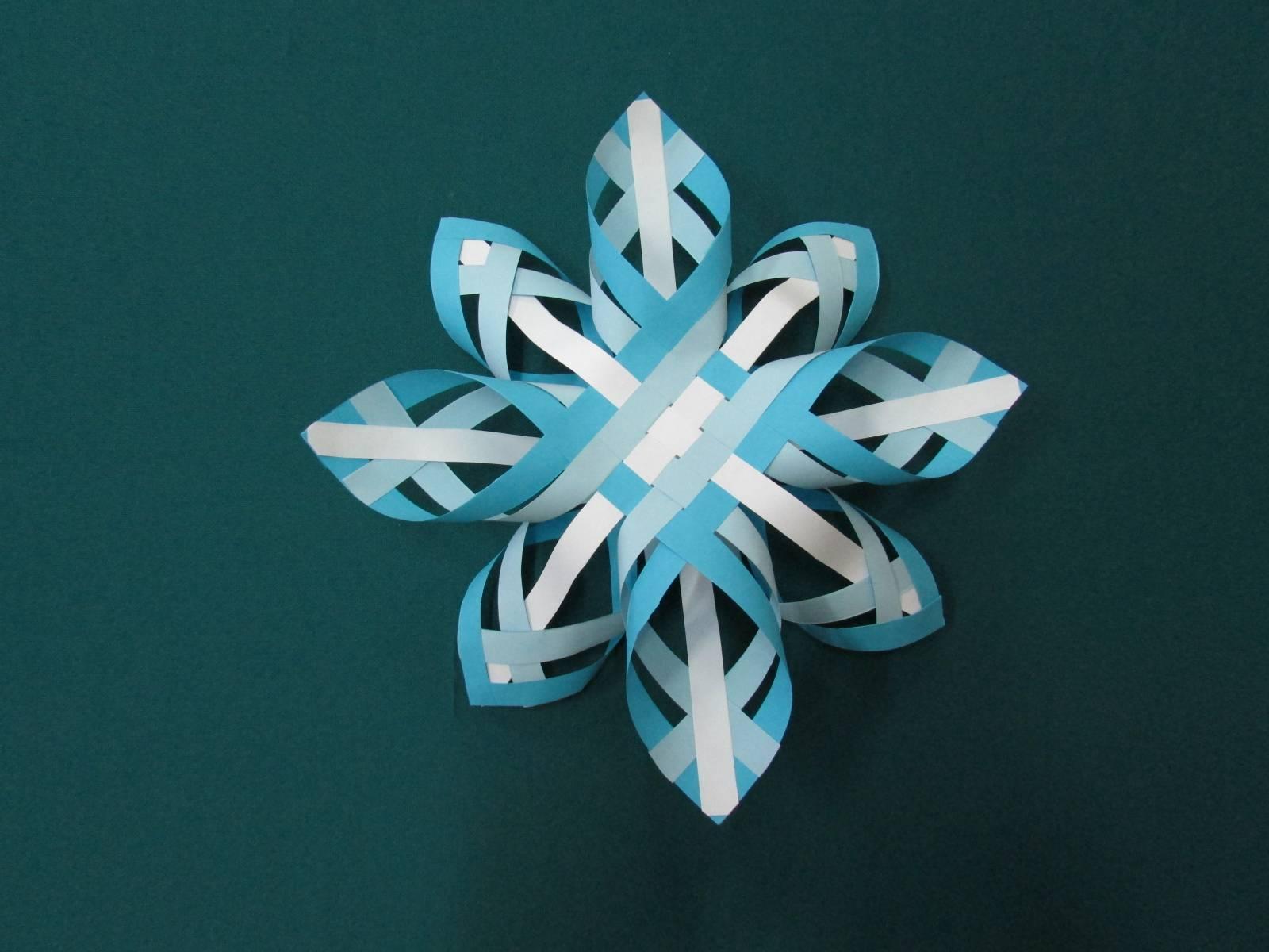 Фото объемных снежинок из бумаги своими руками