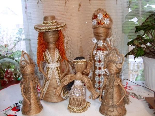 Сувенирная кукла из шпагата своими руками